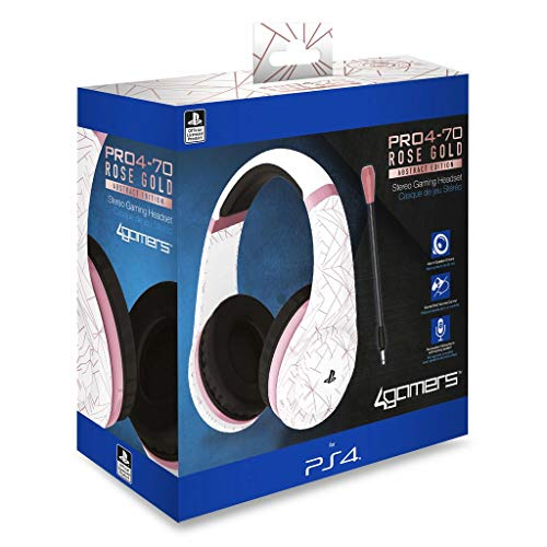 Stereo Gaming Headset - Rose Gold Edition - Abstract White [PS4]