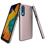 Ownest Compatible Samsung Galaxy A50 Case Non-Slip Anti-Fall Dual Layer 2 in 1 Hard PC TPU with Protection Lightweight for Samsung Galaxy A50(6.4 Inch)-(Rose Gold-3)