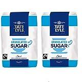 Tate & Lyle Azúcar Pura De Caña Granulado De Comercio Justo (1 Kg) (Paquete de 2)