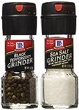 Seasoning Bundle - 2 Items: McCormick's Sea Salt Grinder 2.12 Oz. and McCormick's Black Peppercorn Grinder 1.0 Oz.