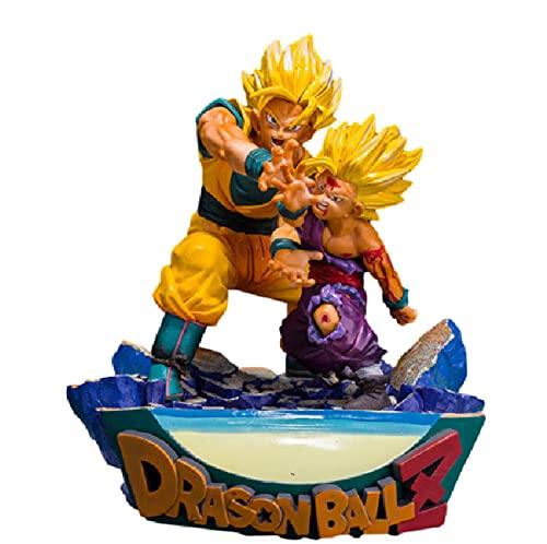 17Cm Anime Dragon Ball Z Figura de acción Goku Gohan Padre e Hijo Kamehameha Power Scencs PVC Modelo Dragon Ball Super Figurita Juguetes