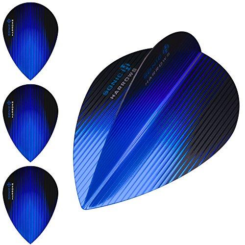 Harrows Sonic - Juego de 10 dardos (100 micras, 30 unidades), azul oscuro
