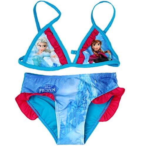 Frozen Bikini Die Eiskönigin Anna und ELSA Völlig Unverfroren (122-128, Bikini; Blau-Fuchsia)