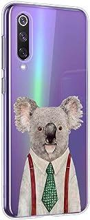 Suhctup Funda Compatible para Xiaomi Mi 8Carcasa Transparente Dibujos Animal Suave Silicona TPU Gel Bumper Ultra Pulgada Antigolpes Crystal Clear Protector Piel Case CoverPereza 2