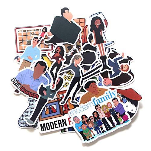 YMSD familia moderna pegatinas maleta skateboard refrigerador cuaderno dibujos animados PVC dibujos animados graffiti pegatinas 23pcs