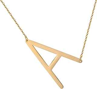 Best oversized letter necklace Reviews