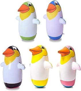 Vaso de Pingüino Inflable deJuguete de Pingüino de5 Pcs para Piscina deFiesta - 22cm (Color Aleatorio)