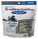 ARK NATURALS Ark-4710064-1 Gray Muzzle Brushless Tooth Paste Chewable Dental Treats for Dogs, 4.1 oz, Small & Medium Breeds