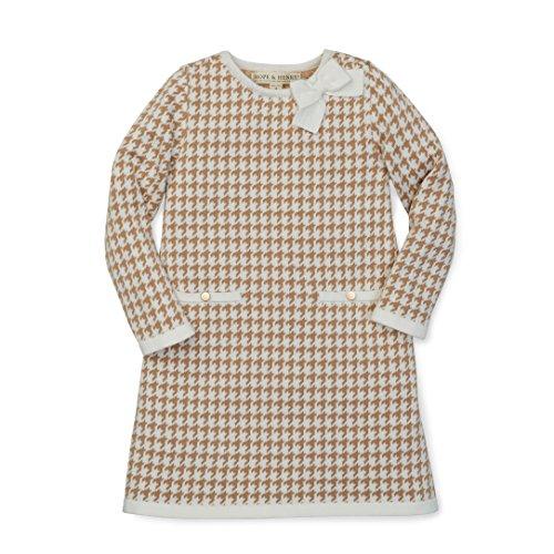 Hope & Henry Girls' Ivory Houndstooth Sweater Dress Size 4