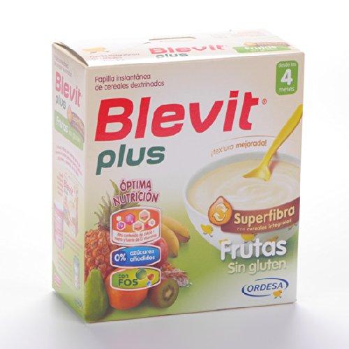 Blevit - Papilla Frutas Sin Gluten Superfibra Blevit Plus 600 gr 4m+