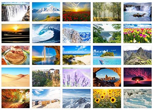 Edition Seidel Set 25 Premium Postkarten Landschaften Meer Berge Wälder Täler Karten Postkarte (20237)