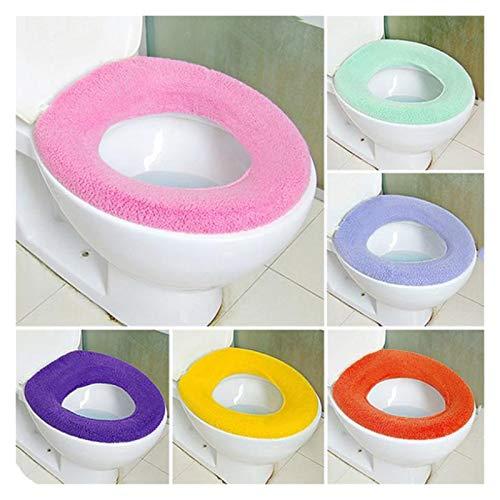 Asiento del baño Cubierta asiento de asiento de asiento cálido Caja de asiento de asiento de baño Almohadillas de cojín de baño en forma de inodoro en forma de inodoro Color de asiento aleatorio Mano