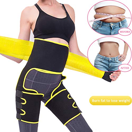 Kaqulec [New 2020 Plus Elastic Band] High Waist Trainer Thigh,3-in-1 Trimmer Fitness Weight Butt Lifter Slimming Support Belt Hip Enhancer Shapewear...