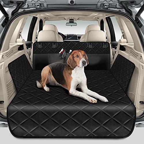 amzdeal Tappeto Auto per Cani, 185×104cm Telo Auto per Cani con 4 Tasche Portaoggetti, Protezione Bagagliaio, Antisporco e...
