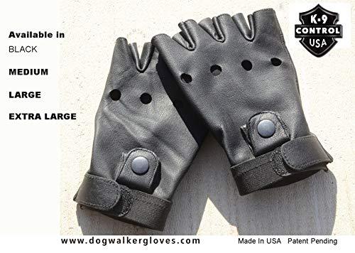 Dog Walker Gloves (Medium, Black)