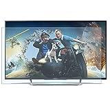 AIZYR Anti Glare TV Screen Protector, Blue Light Filter for Tv Screen - No Fingerprints, Eye Protection, Reusable Prevents Eye Strain Screen Protector,55' (1221682)