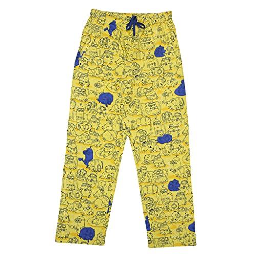 Minions se enfrenta a pantalones de salón de los hombres amarillo xxl