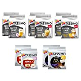 Tassimo Discover Bundle - Coffee Shop Selections Chai Latte / Typ Flat White / Typ Toffee Nut-Latte, Kenco Flat White, L'OR Double Shot Latte - 10 Packs (80 Portings)