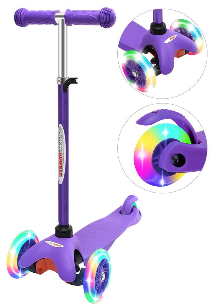 ChromeWheels Adjustable Scooters Flashing Toddlers