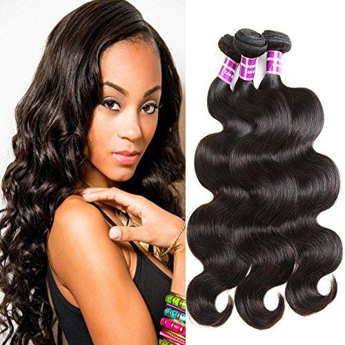 """ZSF Hair Brazilian Virgin Hair Body Wave 100% Human Hair Weave Bundles 20""""22""""24""""26"""" Brazilian Body Wave"""