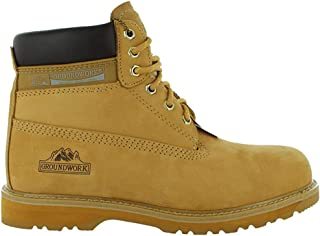 Mens Groundwork Safety Steel Toe Cap Durable Combat Lace up