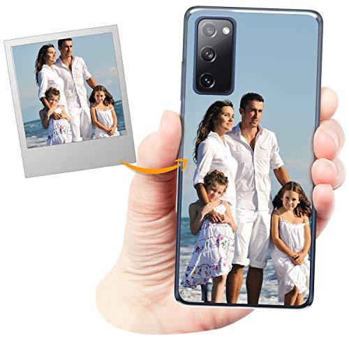 Coverpersonalizzate.it Handyhülle für Samsung Galaxy S20 FE mit Foto-, Bildern- oder Text selbst gestalten- Die Handyhülle ist aus weichem durchsichtigem TPU-Silikon-Gel Material