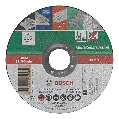 BOSCH 2609256306 - Disco multiuso, 115 mm x 1 mm, recto