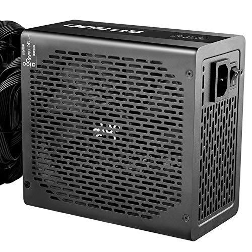 ZHEBEI Fuente de alimentación nominal 500W blanco marca silenciosa ahorro de energía ancho ordenador de escritorio caja principal fuente de alimentación