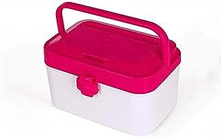 AINIYF Household Medicine Box Multi-Layer Medical Box Plastic Medicine Storage Box Portable First Aid Kit (Color : Pink)