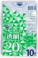 日技 透明 ポリ袋 20L 10P TN5 ×30個
