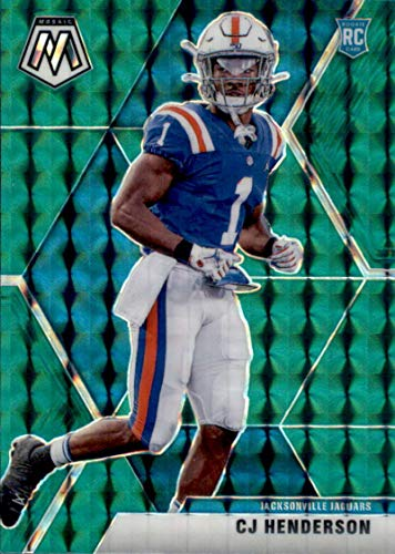 2020 Mosaic Football Mosaic Green Prizm #246 CJ Henderson RC Rookie Jacksonville Jaguars Official NFL Trading Card by Panini America