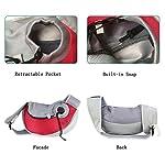 PETEMOO Pet Sling Carrier Bag, Hand-Free Dog Cat Outdoor Travel Shoulder Bag with Adjustable Strap& Zipper 10