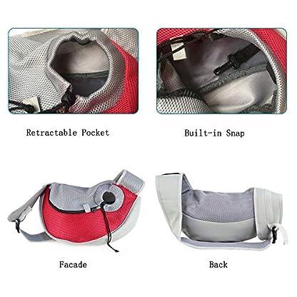 PETEMOO Pet Sling Carrier Bag, Hand-Free Dog Cat Outdoor Travel Shoulder Bag with Adjustable Strap& Zipper 5
