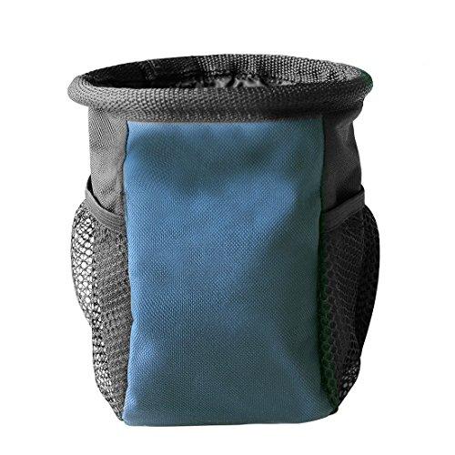 Ondoing Lekkerlitas voertas voor honden lekkerlies Dog Treat Pouch Training Bag Bag Bag Buiktas mobiele telefoon heuptas voor reizen wandeltochten, Medium, lichtblauw