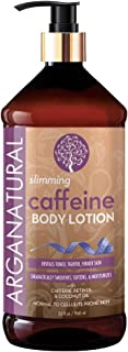 Arganatural Slimming Caffeine Body Lotion with Natural Coconut Oil - Smoothes, Soften & Moisturizes, Reveals Toned, Tighter, Firmer Skin for all Skin Types 32oz / 960ml