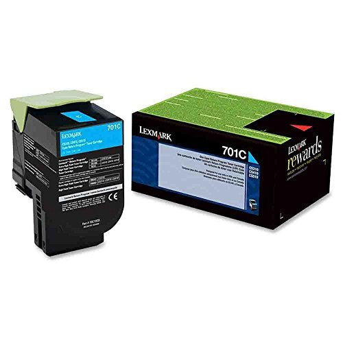 Lexmark 701c Cyan Return Program Toner Cartridge Photo #9