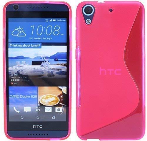 ENERGMiX Silikon Hülle kompatibel mit HTC Desire 626G Tasche Hülle Gummi Schutzhülle Zubehör in Pink