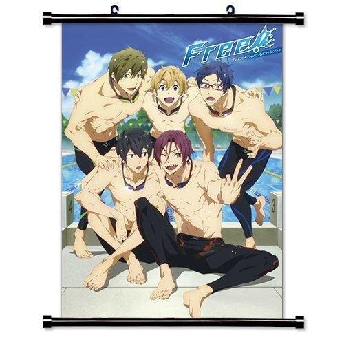 Free! Iwatobi Swim Club Anime Fabric Wall Scroll Poster (16' x 23') Inches