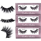 Cuckoo False Eyelashes 3D Faux Mink Lashes Dramatic Korea PBT Fiber False Lashes 100% handmade- 303 (3Pairs)