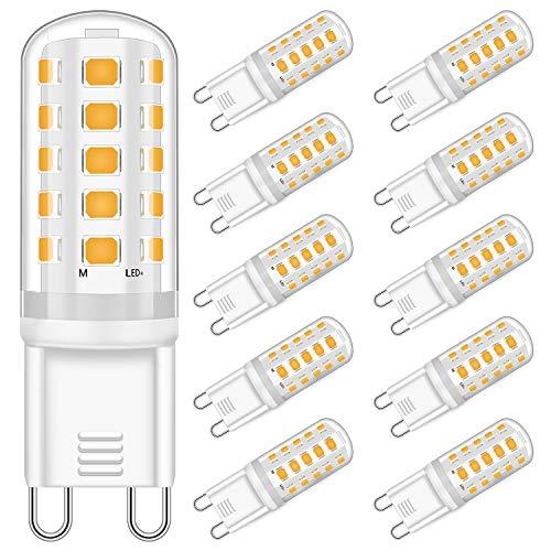 G9 LED Dimmbar Lampen 5W Ersatz für 33W 40W Halogenlampe - Warmweiß 2700K Led glühbirnen - G9 Sockel Led Birne Leuchtmittel, 400LM,AC 220-240V, 10er Pack