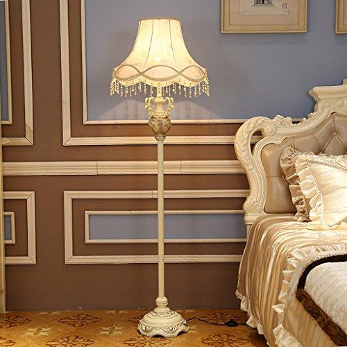 ZIXUANJIAXL Stehende Stehlampen Stehlampe Harzgewebe 50 * 168cm europäische Wohnzimmer Stehlampe amerikanisches Dorf kreative Studie Schlafzimmer Nachttischlampe