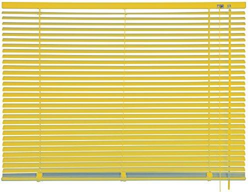 mydeco® 100 x 240 cm Aluminium Jalousie Gelb; inkl. Bedienstab, Deckenträger + Befestigungsmaterial Innenjalousie Sonnen- und Sichtschutz; fein regulierbar