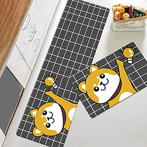Tappeto da Cucina Stampato con Cucciolo di Cartone Animato Tappetino da Cucina con Stampa di Frutta Addensato Tappeto da Cucina Assorbente Antiscivolo Adatto per L Ingresso della Cucina Hotel