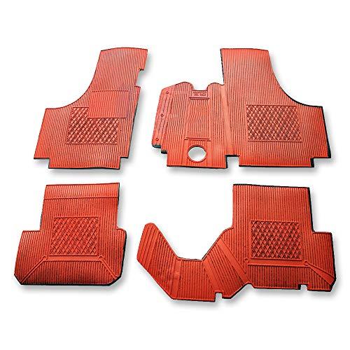 Tappetini vecchia Fiat 500 epoca D tappeti rossi in gomma per Fiat 126 auto set su misura antiscivolo