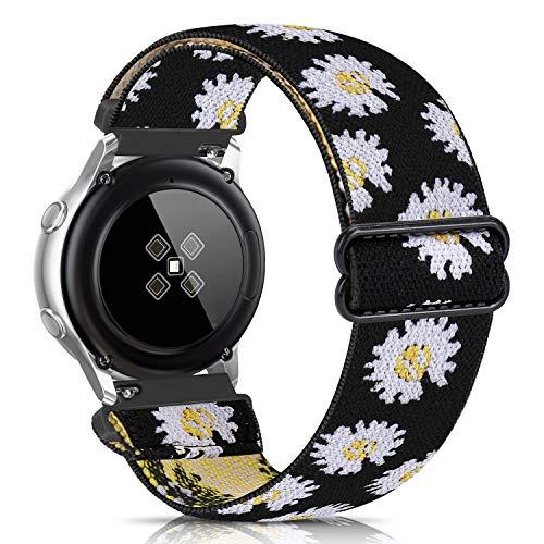 Zoholl - Correa de repuesto elástica compatible con Samsung Galaxy 46 mm, Gear S3 Fronter/Classic, Garmin Vivoactive 4, Fossil Gen 5, 22 mm, correa de tela cómoda estampada para mujer y hombre