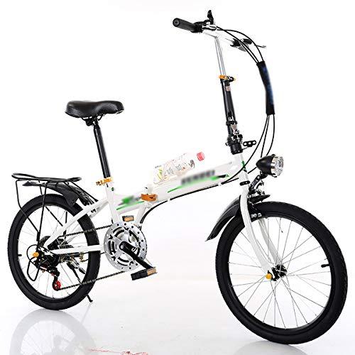 ultraleichte tragbare Klapprad, Unisex Faltbares Fahrrad,Faltbares Sport Klappfahrrad, 20 Zoll Verschiebung Freizeit Fahrrad