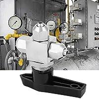 ボールバルブ、6 x 4/8 x 5/8 x 6/12 x 8/12 x 10mm3方向ボールバルブ304ステンレス鋼クイックツイスト水オイルガスボールバルブPUエアホース空気圧機器用(Diameter 8*6)