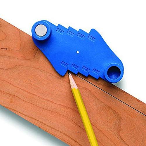 INGHU Markering Center Gauge, Lichtgewicht Houtbewerking Scriber Locator Markering Tool Past Standaard Houten Potloden met Integrale Magneet