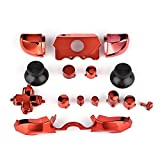 Zerone Full Button Set for Xbox One, Thumbsticks ABXY Buttons Dpad Triggers Full Buttons Set Mod Kits for Xbox One Controller(Red)