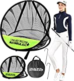 BAYINBULAK Golf Chipping Practice Net for Backyard Driving 2 Piece Golf Accessories Cornhole Game Men Gift (12' and 24')